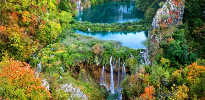 Plitvice Lakes is Croatia's most popular national park, attracting over 1 million visitors per year.