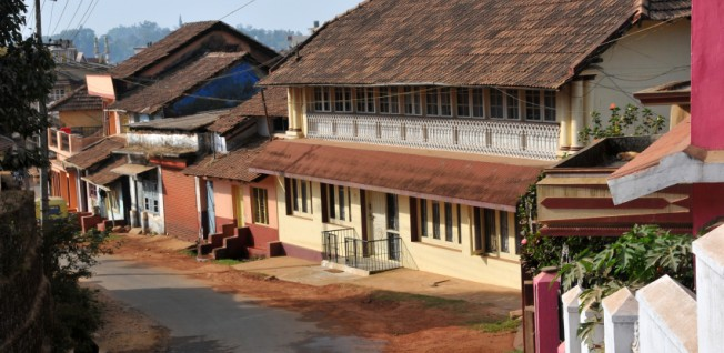 Rural life in Karnataka — housing in the hill town of Madikeri.