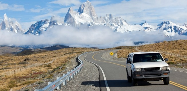 In remote regions like Patagonia, driving is the only way of getting around.