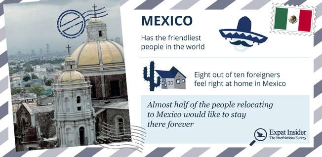 Mexico is home to ancient cities, modern metropolises and happy expats!