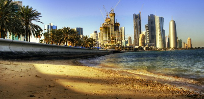 About 70% of Qatar's population lives in Doha, the capital city.