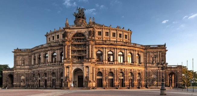 The Operahouse in Dresden is one of the most important venus for theater and music productions.