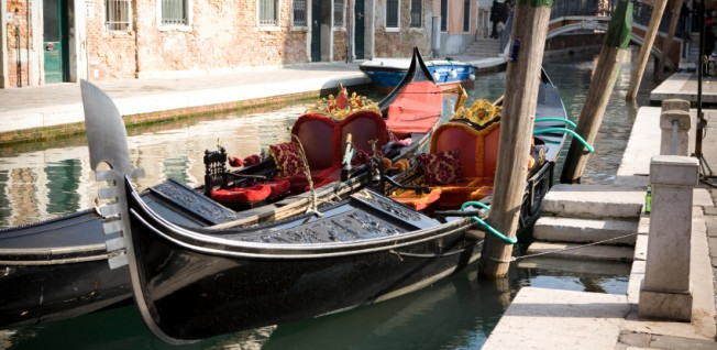 Although Italy has a very modern transportation system, Venetian gondolas are still a very special experience!