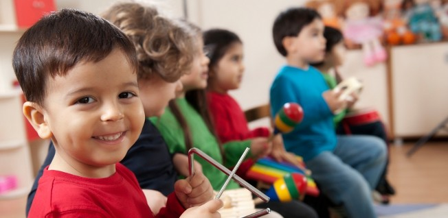 Most children begin to attend a kindergarten in Hong Kong at the age of three.