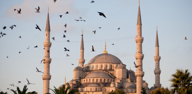 The Blue Mosque is named after the blue tiles decorating the walls.