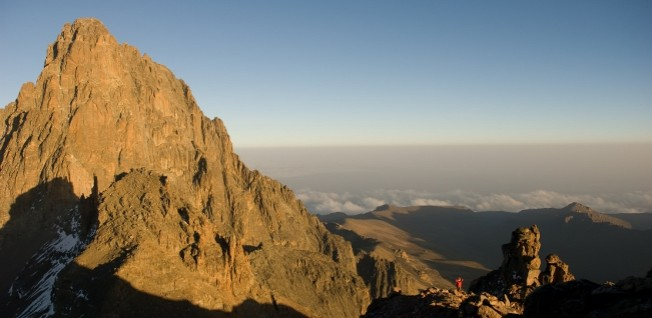 Majestic Mount Kenya is a popular destination within reach of the capital.