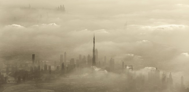 Sandstorms, such as this one in Dubai, can pose a health risk particularly for those with respiratory issues.