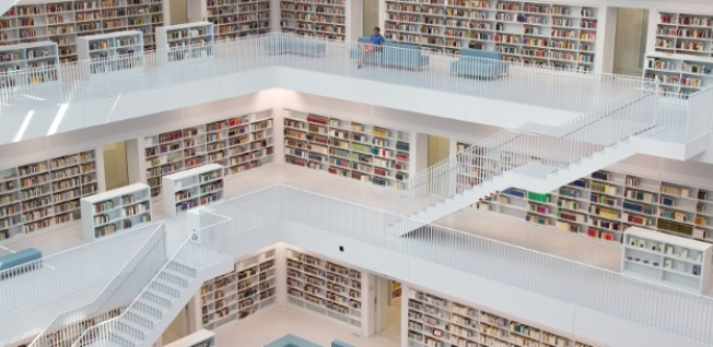The public library in Stuttgart is just one among many in Germany.