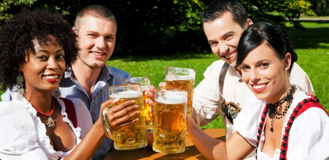 Socialising in beer gardens is an important part of life in Germany.