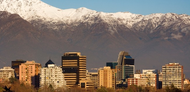Santiago's panoramic skyline is beautifully framed by the Andes.
