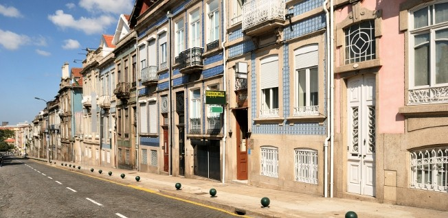 Streets like these are a typical sight in Portugal.