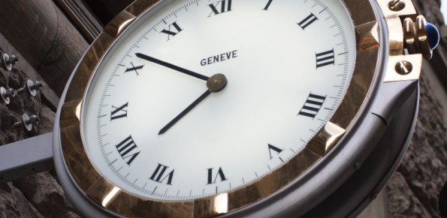 Geneva is home to many luxury watch-makers and well known for Swiss precision.