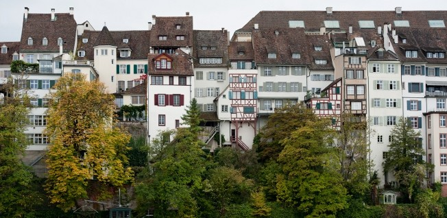 Housing along Basel's riverfront is a very coveted type of accommodation.