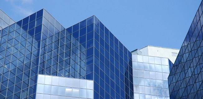 Modern buildings for a modern, services-based economy.