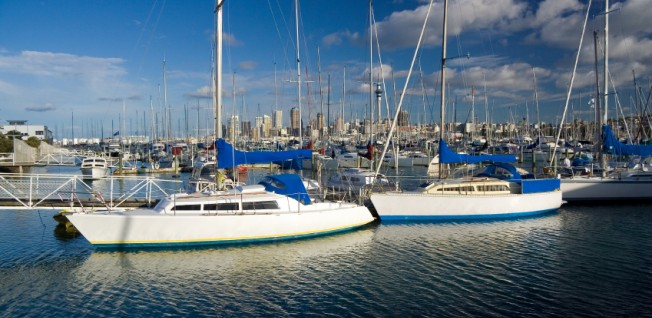 The marina in Auckland is one of the biggest yacht harbors in the entire world.