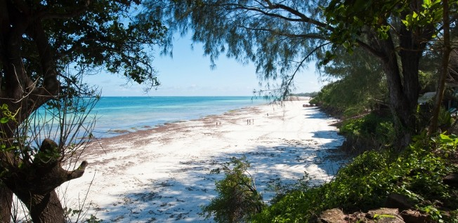 Diani Beach near Mombasa is one of Kenya's popular tourist destinations.