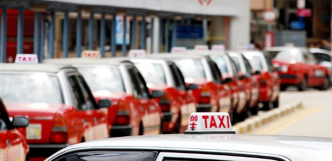Taxis can be found anywhere in Hong Kong.