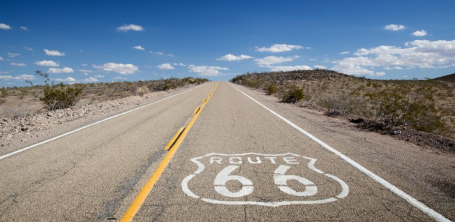 Route 66 ran from Chicago by Lake Michigan to Santa Monica in Southern California.