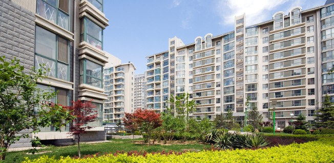 Expat apartments are often located in big residential building complexes.
