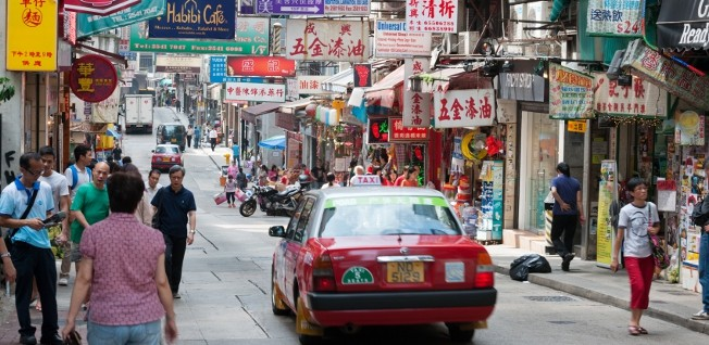 Wellington Street, in downtown Hong Kong, is shopping central for most locals.