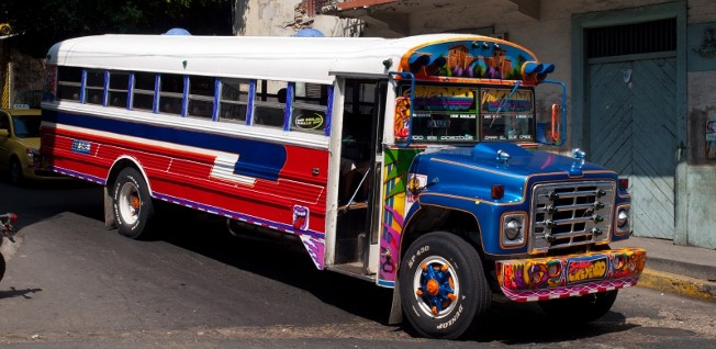 """The colorful """"red devils"""" (diablos rojos) are gradually being replaced by metro busses."""
