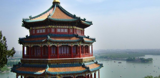 The summer palace in Beijing is a tourist hot spot in China.