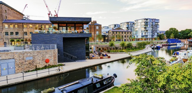 The Regents Canal runs through London and provides a peaceful, alternative method of travel by foot or bike.