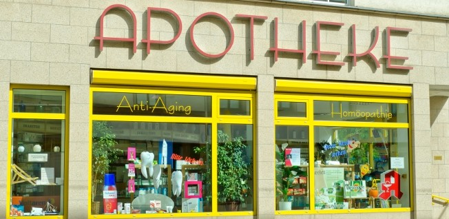 "Pharmacies (""Apotheke"") can be found in virtually every street or neighborhood in Germany."