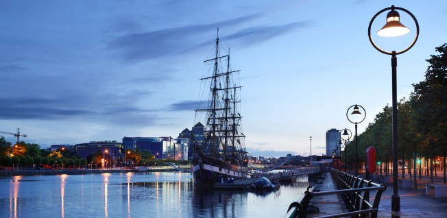 Dublin may be situated at the Irish Sea, but the days of arriving by sail boat are long past.