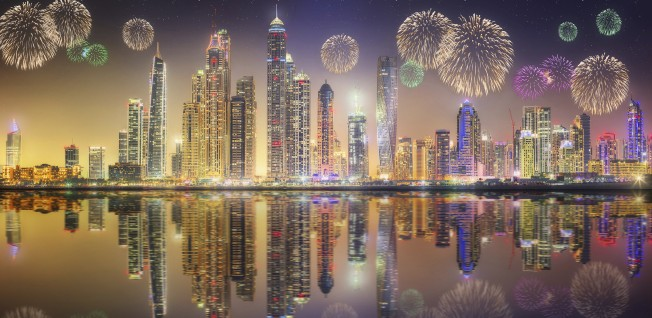 The New Year's fireworks are a sight to see in the UAE, especially in Dubai!