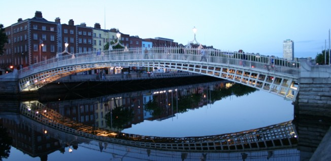 Dublin is actually quite picturesque and small in size.