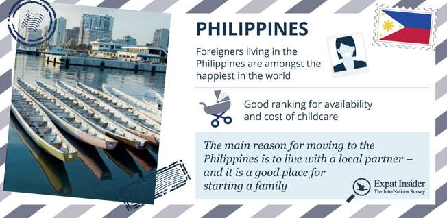 White beaches and a tropical climate are not the only reasons why expats are so happy with life on the Philippines.