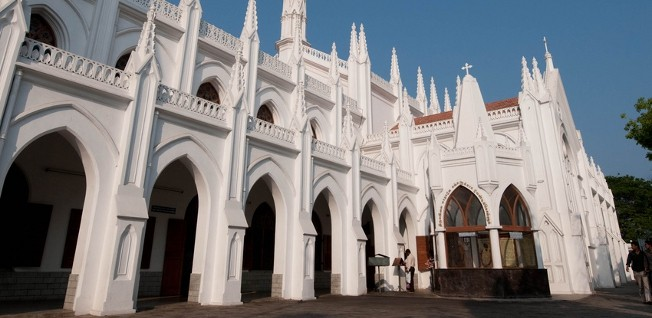 The San Thome Basilica is a beautiful example of Chennai's varied architecture.