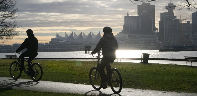 Cycling is very popular in Vancouver, and the city adminstration actively promotes it.