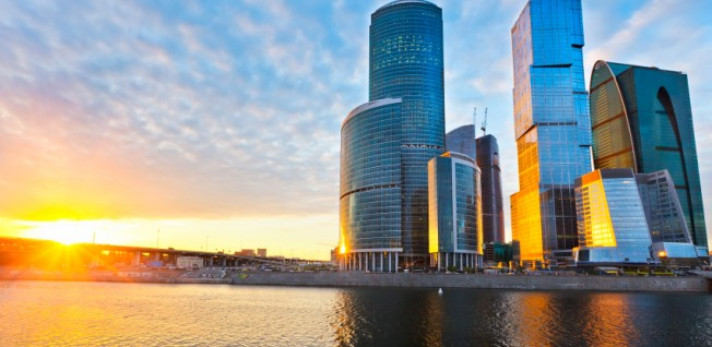 Many multinational companies are located in Moscow's business districts.