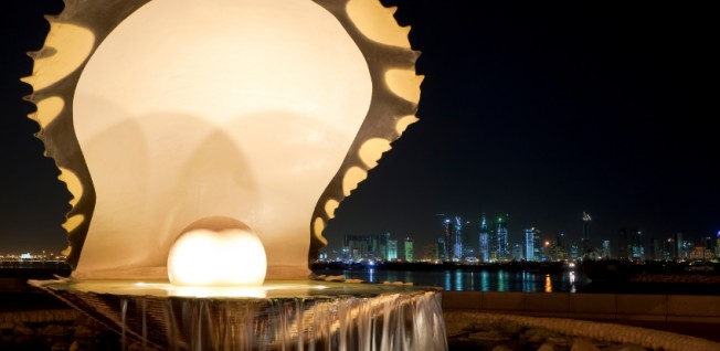 The Pearl and Oyster Fountain is an emblem of Doha's modern lifestyle.