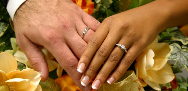Among expats, an intercultural marriage is not rare at all.