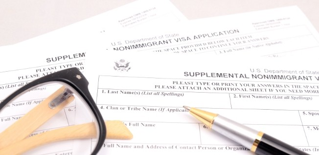 You will have to be prepared to tackle a lot of paperwork when applying for a US visa.
