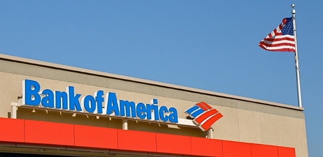 Bank of America is one of the five largest banks in the US.