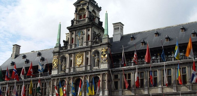 Antwerp's impressive town hall is at the heart of the old city.