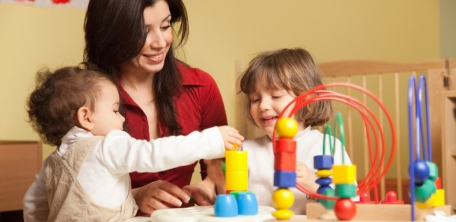 Early years education at day nurseries or children's centers mostly consists of learning through play.