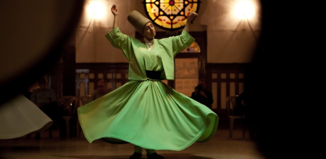 The Sufi whirling dance is a religious practice of the Mevlevi order.