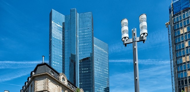 Frankfurt is Germany's financial center.