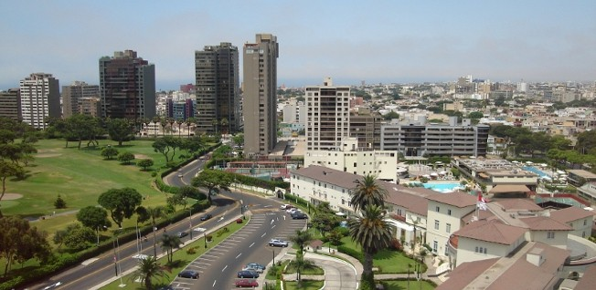 Lima's financial district has seen significant economic profits in the last decade.