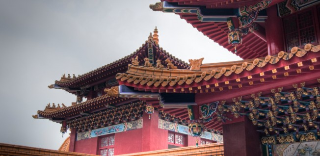 Traditional architecture is prevalent all over China.