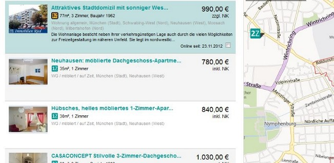 Online ads and local papers are still the best source for real estate in Germany.