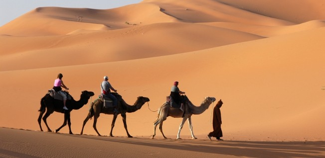 The Moroccan Sahara is the country's least populated region.