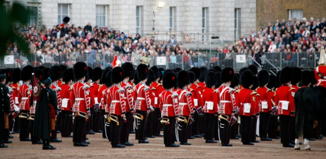 The Trooping the Colour Parade is a major annual spectacle in celebration of the Queen's birthday.