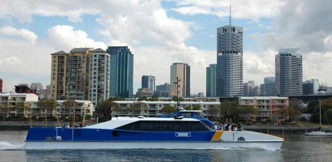 River ferries and catamaran speedboats are an important part of Brisbane's public transport network.